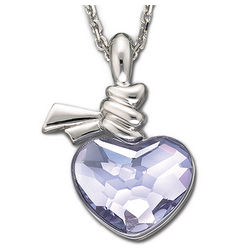 Swarovski Ties of Love Violet Heart Pendant