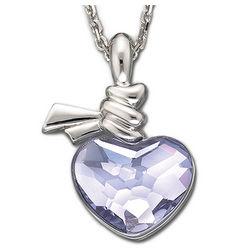 Swarovski Ties of Love Violet Heart Pendant