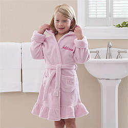 Personalized Pretty in Pink Kid's Robe