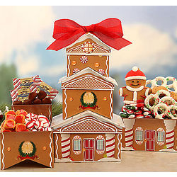 Gingerbread House Gift Tower
