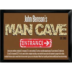 Personalized Man Cave Definition Pub Sign