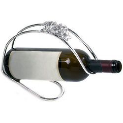 Silver Plated Grape Motif Bottle Holder
