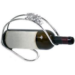 Silver Plated Grape Motif Bottle Holder