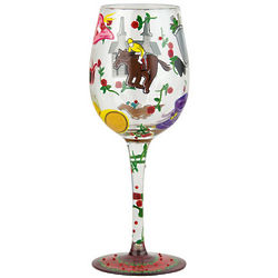 Kentucky Derby Wine Glass