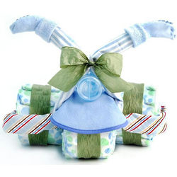 Boy's Tricycle Diaper Cake