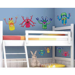 Finger Monster Wall Decals