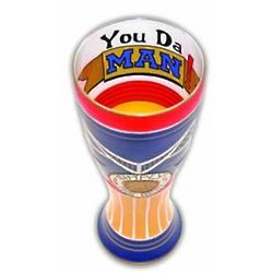 Simply the Best Hand Painted Reverz-Art Pilsner Glass