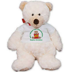 Personalized Christmas Present Teddy Bear