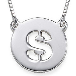 Cut Out Single Initial Necklace