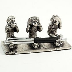 Speak, Hear, See No Evil Pen Stand