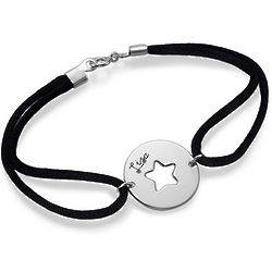 Personalized Sterling Silver Cut Out Bracelet
