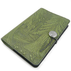 Evergreen Forest Embossed Leather Journal