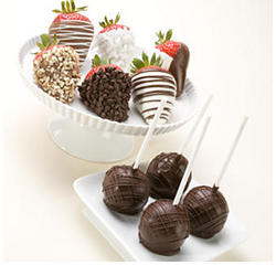 6 Fancy Berries & 4 Brownie Pops