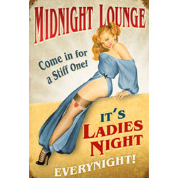 Midnight Lounge Metal Sign