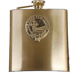 Personalized Scottish Family Crest Flask