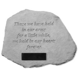 Those We Have Held in Our Arms Personalized Pet Memorial Stone