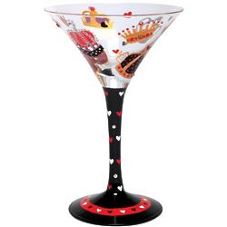 King of Hearts Martini Glass