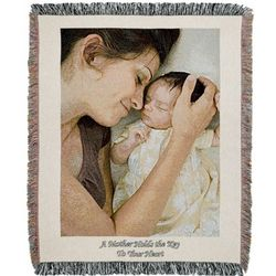 Portrait Custom Photo Blanket with Natural Border