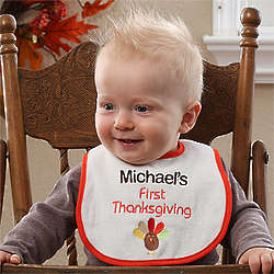 Personalized Baby's First Thanksgiving Bib
