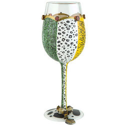 Wild Side Hand Painted Wine Glass