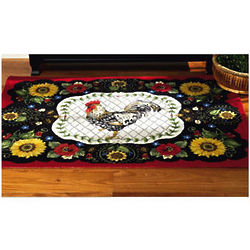 Provencal Rooster Round Rug