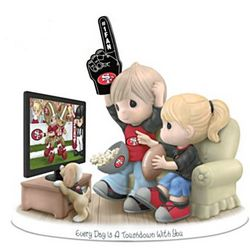 Every Day is a Touchdown with You 49er Fan Figurine