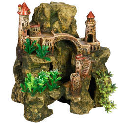 Domed Castle and Rock Aquarium Ornament