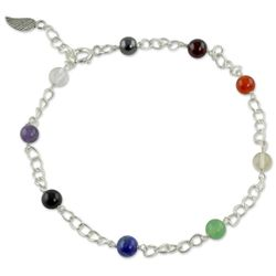 Season of Love Multi-Gemstone Chakra Anklet