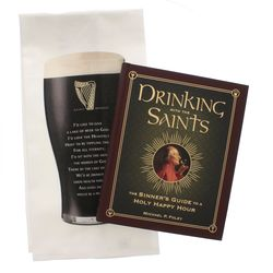Drinking with the Saints Book and Bar Towel Gift Set