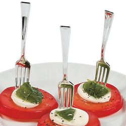 Mini Silver Appetizer Forks