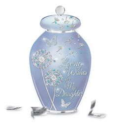 Loving Wishes For My Daughter Heirloom Porcelain Musical Jar