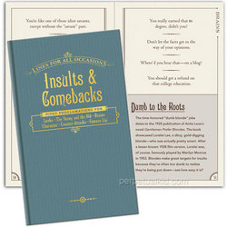 Insults & Comebacks Book