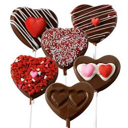 Gourmet Chocolate Heart Pops