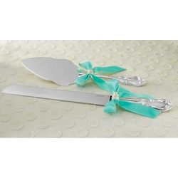 Custom Color Cake Knife and Server Set
