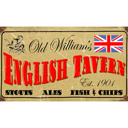 Old William's Tavern Metal Sign