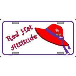 Red Hat Attitude License Plate