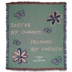 Personalized Sister By Chance Throw