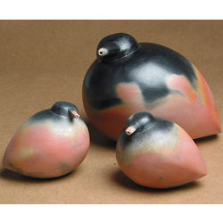 Handcrafted Clay Bird Family