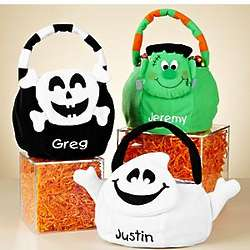 Personalized Plush Trick or Treat Bag with Safety Kit