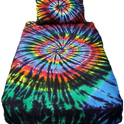 Stained Glass Tie Dye Bed Set