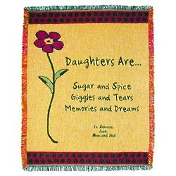 Personalized Cotton Throw for Daughters