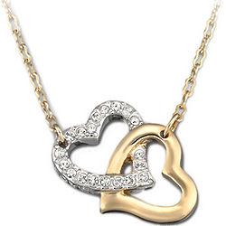 Swarovski Crystal Double Heart Necklace