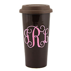 Personalized Ceramic Go Cup Travel Mug