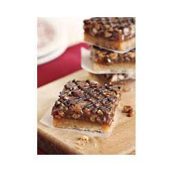 Chocolate-Drizzled Pecan Pie Bars