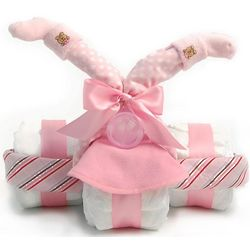 Girl's Tricycle Diaper Cake