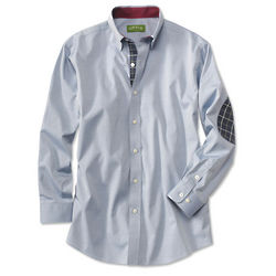Men's Wrinkle-Free Pure Cotton Pinpoint Oxford Shirt