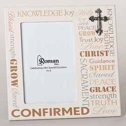 Words of Faith Confirmation Photo Frame