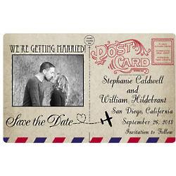 Custom Photo Postcard Save the Date Magnets