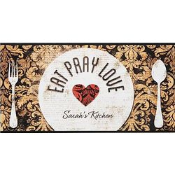 Personalized Eat Pray Love Wooden Plaque