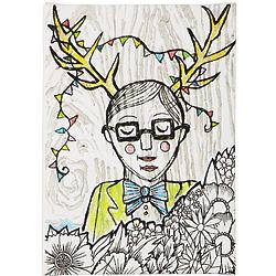 Deer Boy Print on Canvas